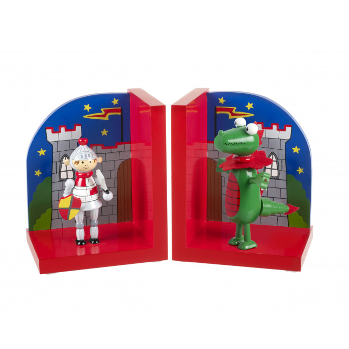 Knight and Dragon Bookends
