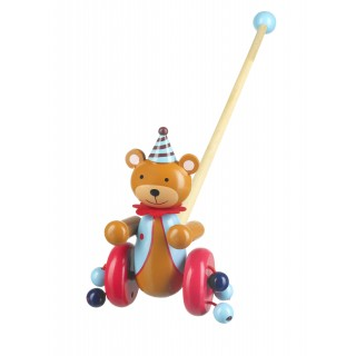 Circus Bear Push Along