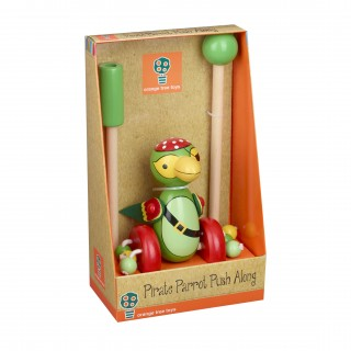 Pirate Parrot Push Along (Boxed)