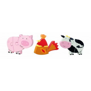 Farm Yard Mini Puzzle Set