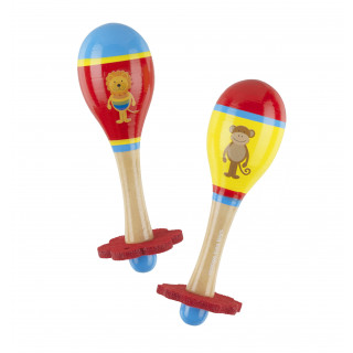 Lion & Monkey Maraca Set