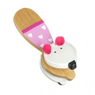 Pink Mouse Clacker