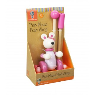 Pink Mouse Push Along (Boxed)