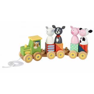 Farm Animal Puzzle Train