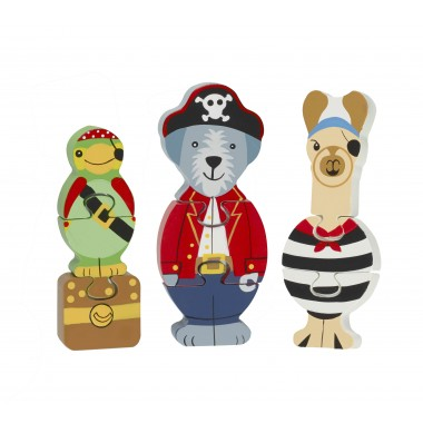 Animal Pirate Mini Puzzle Set