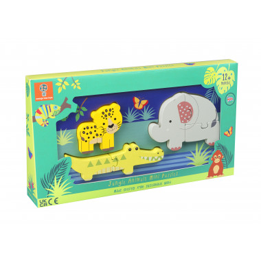 Jungle Animals Mini Puzzle Tray