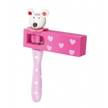 Pink Mouse Turning Clacker
