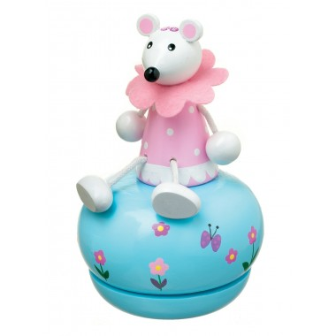 Pink Mouse Music Box