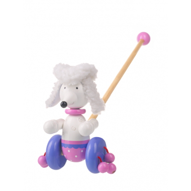 PomPom the Poodle Push Along