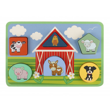 Farm Animal Shape Puzzle