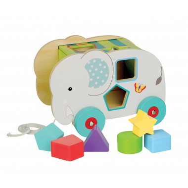 Jungle Elephant Pull Along Shape Sorter